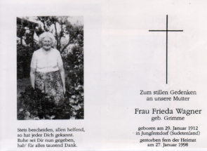 1998 - 27011998 Frieda Wagner